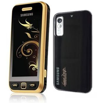 Samsung S5230 Star Black Gold + pouzdro Krusell Gaia černé