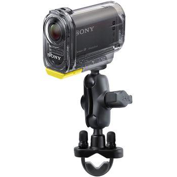 RAM Mounts držák se stativovým závitem pro středně velkou videokameru nebo fotoaparát na motorku na řídítka, Ø objímky 12,7-31,75 mm, krátké rameno, sestava RAM-B-149Z-366U