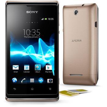 Sony Xperia E dual zlatá