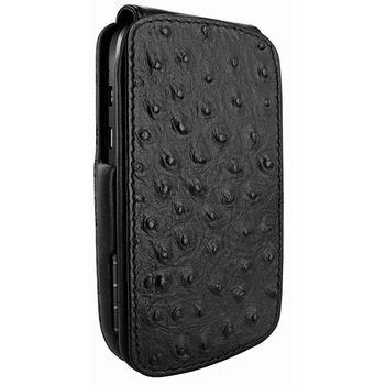 Piel Frama pouzdro pro BlackBerryQ10 iMagnum, Ostrich Black