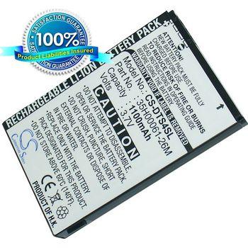 Baterie náhradní (ekv. BA-S320) pro HTC Touch Viva, Li-ion 3,7V  1100mAh