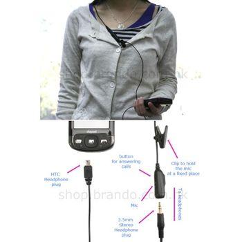 Redukce miniUSB/3,5 stereo Jack + mikrofon - HTC Stereo Converter