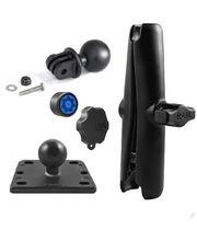 RAM Mounts adaptér pro outdoorové kamery GoPro Hero s dlouhým ramenem se zabezpečením na motorku na nádržku brzdové kapaliny, sestava RAM-B-182-GOP1-KNOB3-CU