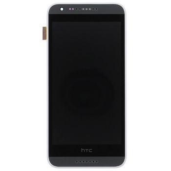 Náhradní díl LCD Display + Dotyková Deska + Přední Kryt White pro HTC Desire 620