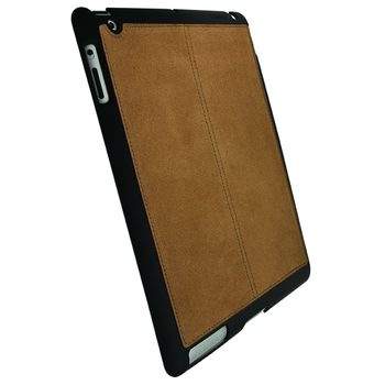 Krusell hard case - Luna Tablet Undercover Faux Nubuck - Apple iPad 2 (hnědá)