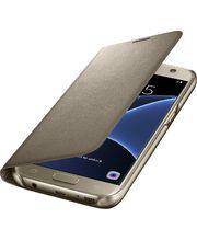 Samsung LED flipové pouzdro s kapsou EF-NG930PF pro Galaxy S7, zlaté