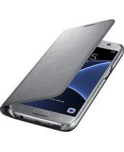 Samsung LED flipové pouzdro s kapsou EF-NG930PS pro Galaxy S7, stříbrné