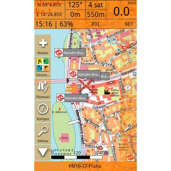Smart Maps Locator - Cykloturistická mapa ČR a SR 1:75 000