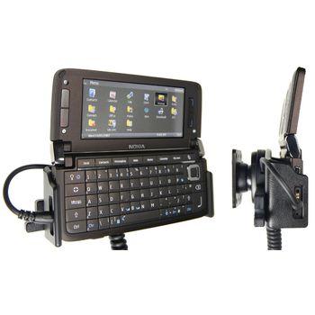 Brodit držák do auta pro Nokia E90, horizontální s nabíjením