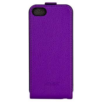 Xqisit flipové pouzdro pro iPhone 5C flip fialové