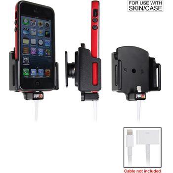 Brodit držák do auta na Apple iPhone 5/5S/5C/SE v pouzdru, nastavitelný, s průchodkou pro Light. kab