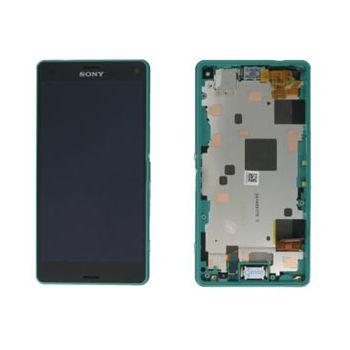 Náhradní díl LCD displej + dotyková deska + přední kryt Sony D5803 Xperia Z3 Compact, zelený