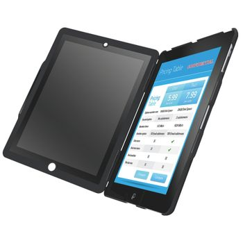 Leitz Complete kryt se stojánkem a privátním vertikálním filtrem pro iPad2 a novější, černá