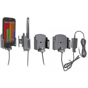 Brodit držák do auta na mobilní telefon s microUSB nastavitelný skrytým nab. š.62-77 mm, tl.6-10mm