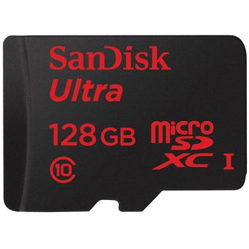 SanDisk microSDXC 128GB Class 10 UHS-I (až 30MB/s) + SD adaptér