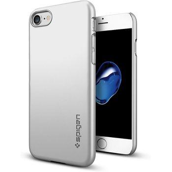 Spigen ochranný kryt Thin Fit pro iPhone 7, stříbrná