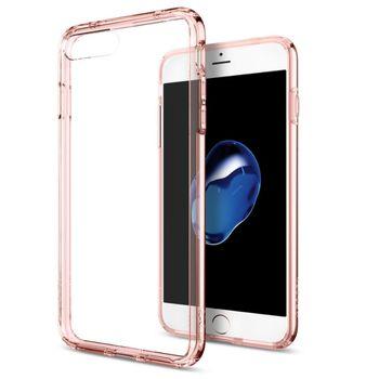 Spigen ochranný kryt Ultra Hybrid pro iPhone 7 plus, průhledná-růžová