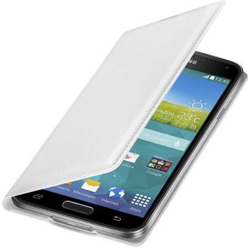 Samsung flipové pouzdro s kapsou EF-WG900BH pro Samsung Galaxy S5 (SM-G900), bílé