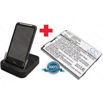 Kolébka pro HTC Desire HD + nabíječka ext. baterie + náhradní baterie