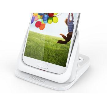 Kidigi UltraThin kolébka pro Samsung Galaxy S4 se slotem pro druhou baterii, bílá, rozbaleno
