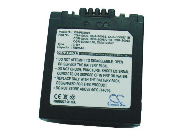 obsah balení Baterie CGR-S006 Panasonic Lumix DMC-FZ7/FZ30 (750mAh)