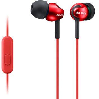 SONY sluchátka MDR-EX110AP, červená