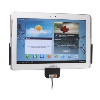 Brodit držák do auta na Samsung Galaxy Tab 10.1 2.gen. bez pouzdra, s nabíjením z cig. zapalovače