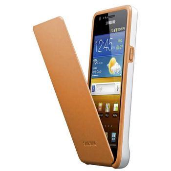 Samsung pouzdro flip EF-C1A2W pro Samsung Galaxy S II (i9100), bílá/oranžová