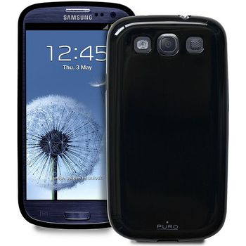 PURO silikonové pouzdro Plasma pro Samsung Galaxy S III - černá