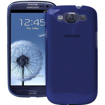 PURO silikonové pouzdro Crystal Cover pro Samsung Galaxy S III - modrá