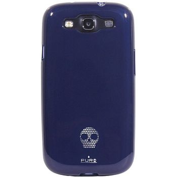PURO silikonové pouzdro Skull pro Samsung Galaxy S III - modrá
