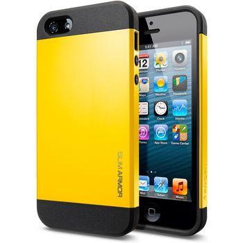 Spigen iPhone 5 Slim Armor ochranné pouzdro žluté
