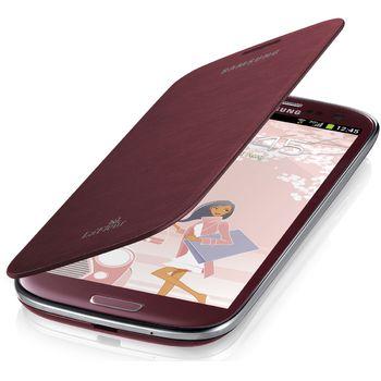 Samsung flipové pouzdro EFC-1G6RR pro Galaxy S III mini (i8190), červené La Fleur