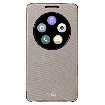 LG flipové pouzdro QuickCircle CCF-490G pro LG G3S, zlaté