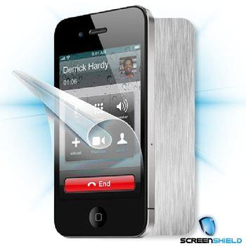 Fólie ScreenShield Apple - iPhone 4S displej+carbon stříbrná