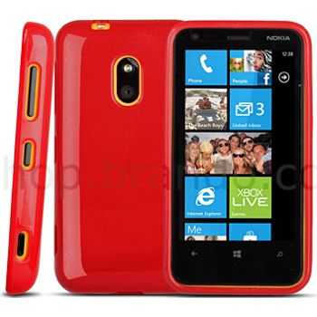 Pouzdro silikonové Brando - Nokia Lumia 620, zelené