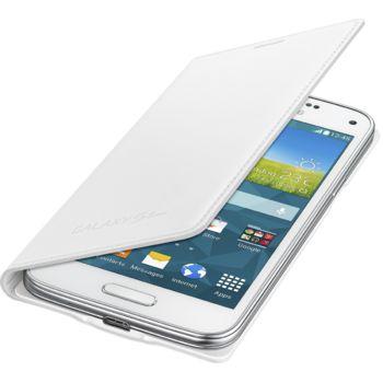 Samsung flipové pouzdro EF-FG800BW pro Galaxy S5 mini, bílé