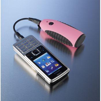 Záložní zdroj a nabíječka Powerchimp na dvě AA baterie (růžová)