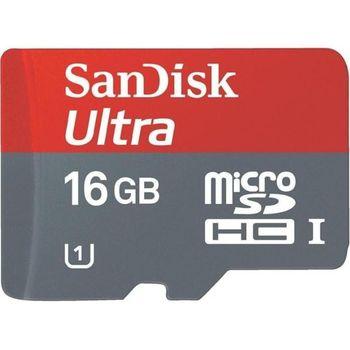 SanDisk microSDHC 16GB Class 10 UHS-I Ultra Android paměťová karta + SDHC adaptér