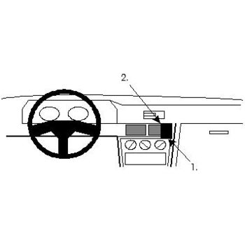 Brodit ProClip montážní konzole pro Mitsubishi Galant 88-92, na střed