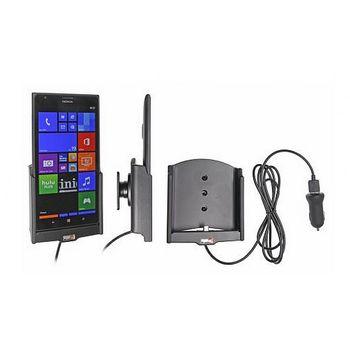 Brodit držák do auta na Nokia Lumia 1520 bez pouzdra, s nabíjením z cig. zapalovače/USB