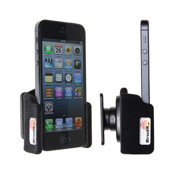 Brodit držák do auta na Apple iPhone 5/5S/SE bez pouzdra, bez nabíjení, samet