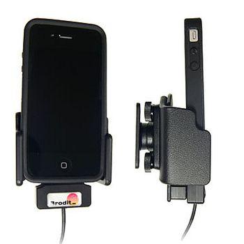 Brodit držák do auta na Apple iPhone 4/4S v pouzdru Skin/Bumper, s průchodkou pro Griffin PowerJolt
