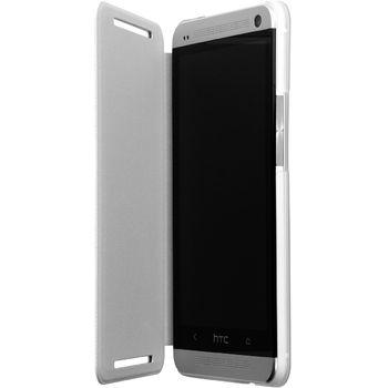 HTC flipové pouzdro HC V844 pro HTC One Dual SIM, bílé