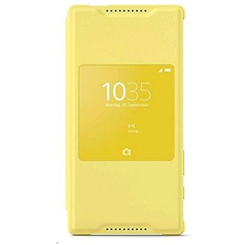Sony flipové pouzdro Style Cover Window SCR44 pro Xperia Z5 Compact, žluté