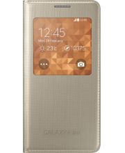 Samsung flipové pouzdro S-view EF-CG850BF pro Galaxy Alpha, zlatá