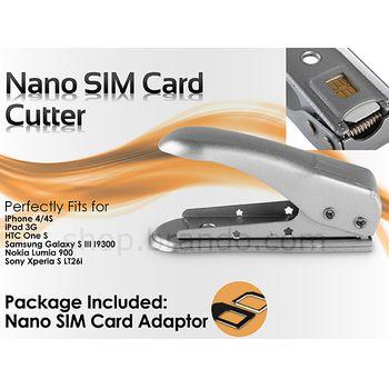 Řezačka Nano SIM Brando + adaptery na microSIM/SIM ZDARMA - pro iPhone 5