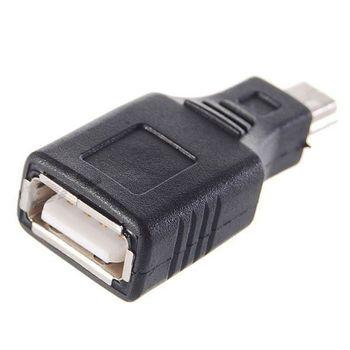 OTG pevná redukce - miniUSB - USB female