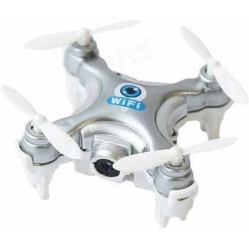 Mini FPV dron (ekv.CX-10W), WI-FI pro Android a Apple, stříbrný