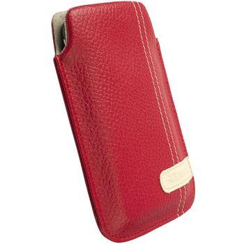 Krusell pouzdro Gaia Pouch XL - HTC HD7/HD2/Legend/Touch HD  66x114x15mm (červená)